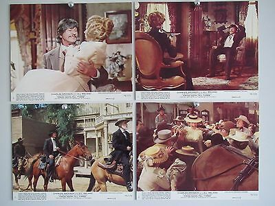 MINT 25 cm x 20 cm LOBBY CARDS Set of 8   FROM NOON TIL THREE CHARLES BRONSON
