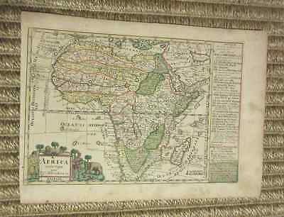Rare copperplate map of Africa by Johann Georg Schreiber, ca. 1730, handcolored