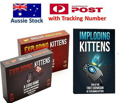 Exploding Kittens CARD GAME - Original / NSFW / IMPLODING KITTENS - FREE POST