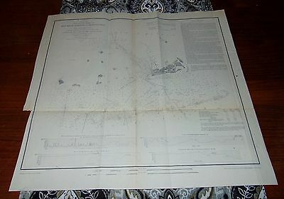 RARE ANTIQUE Map 1851 KEY WEST HARBOR & APPROACHES Florida