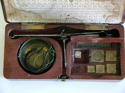Antique W & T Avery Boxed Set Of Diamond Pocket Scales