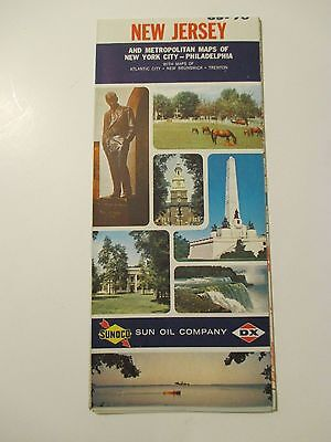 Vintage 1969-1970 SUNOCO NEW YORK Gas Service Station Road Map