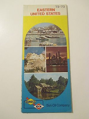 Vintage 1972-73 SUNOCO EASTERN UNITED STATES Gas Service Station Road Map