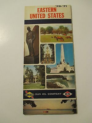 Vintage 1970-71 SUNOCO EASTERN UNITED STATES Gas Service Station Road Map