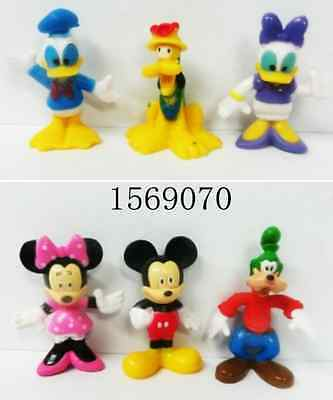 RARE Mickey Mouse Minnie Mouse Donald Duck Daisy Duck 6 pcs Figures Toy