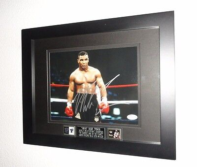 Mike Tyson Signed Framed Autographed 8X10 Photo JSA Certified COA Boxing/HOF (B)