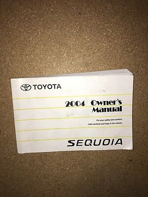 2004 Toyota Sequoia owners manual 04 OEM