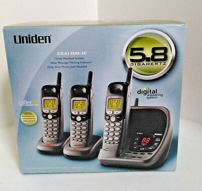Uniden Dxai 5588-3C Cordless Home Phone - New In The Box