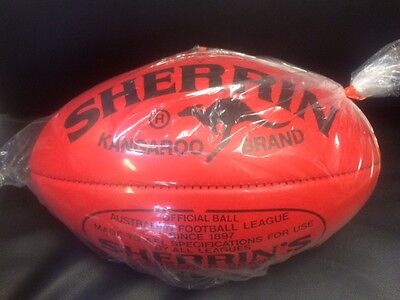 Sherrin Kb Full Size Red  Leather Football