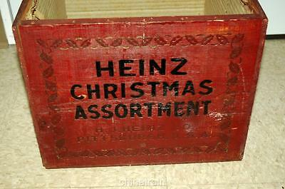 Vintage H J Heinz 57 Products Christmas Assortment Wooden Wood Box Crate