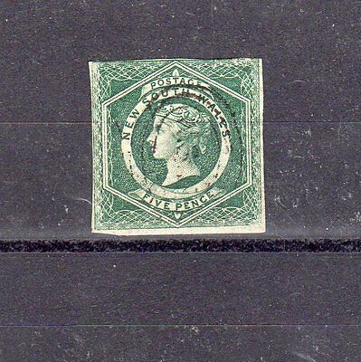 New South Wales - 1855 - 5d imperf used