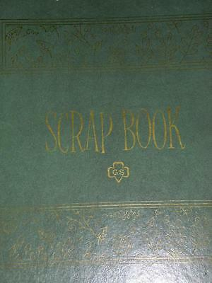 "Girl Scouts Scrapbook Large Format (11"" x 14"") Green Construction Pages Vintage"