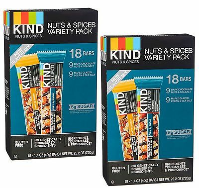 Kind Gluten Free Nuts & Spices Variety Pack BB 5/2017 36 Bars Please Read