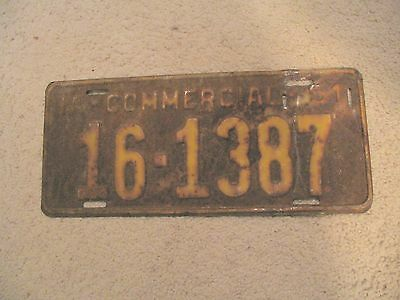 1951 Iowa Vintage Commercial License Plate