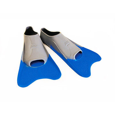 Zoggs Ultra Blue Finz Flippers Swimming Training Accessories Fins Blue/Grey