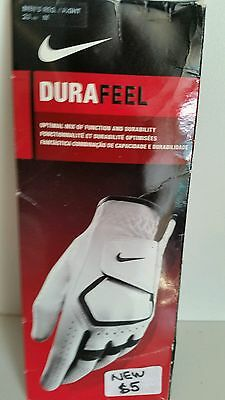 WHITE LEATHER GOLF GLOVE NEW  CAN post extra cost