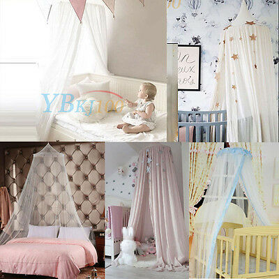 Cotton Canopy Bed Netting Mosquito Bedding Net Dome Baby Kids Reading Play Tent
