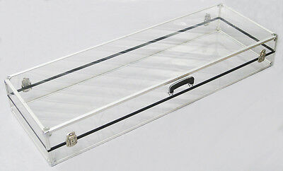 DJ Clear Acrylic Case 1200mm Wide with Handel+Hinges and Corner Protectors