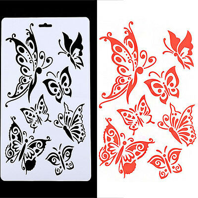 DIY Craft  Butterfly Stencils Templates Painting Scrapbooking Stamps Album Hot