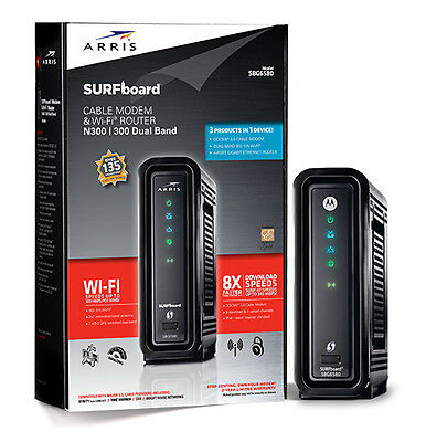 Arris Motorola SURFboard Wireless Router - 3.0 Cable Modem + Wifi N300 Dual Band