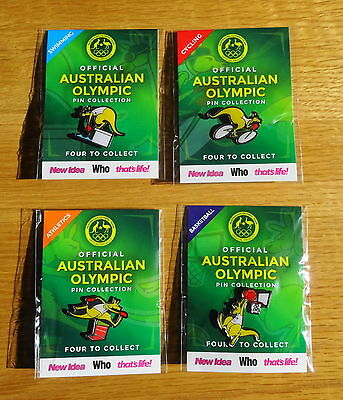 Official Australian Olympic 2016 Pin Collection - Full Set of 4 – Brand New