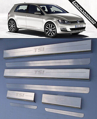 VW Golf Mk7 TSi (released approx. 2013) 4 Door Sill Protectors / Kick plates