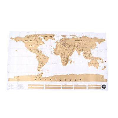 Deluxe Travel Edition Scratch Off World Map Poster Personalized Journal Log#Gift