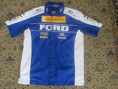 OFFICIAL FORD V8 SUPERCAR MOTOR RACING PIT CREW SHIRT size ADULT LARGE A1