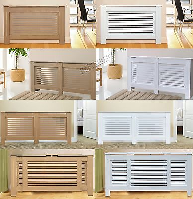 Painted Radiator Cover Wall Cabinet Wood MDF Traditional Modern Adjustable