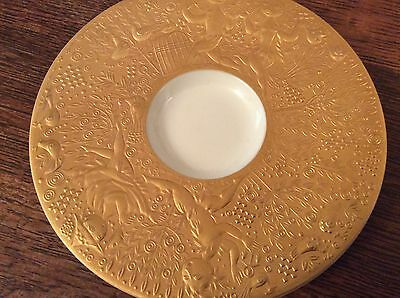 Rosenthal germany signed gold plated saucer