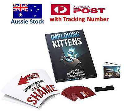 Exploding Kittens CARD GAME - IMPLODING Kittens Expansion 1 - Aussie Version
