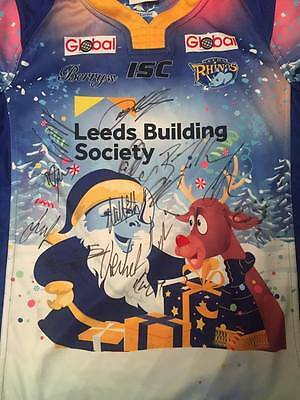 Leeds Rhinos Signed Rugby League 2016 Christmas Shirt Jersey