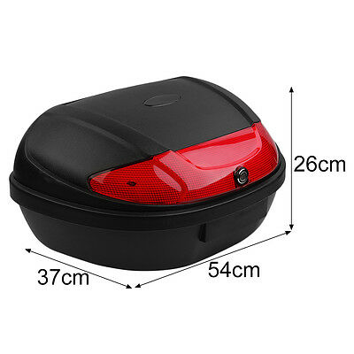 XXL Motorcycle Top Box Trunk Luggage Case Release Tail Rack Universal Black 51L