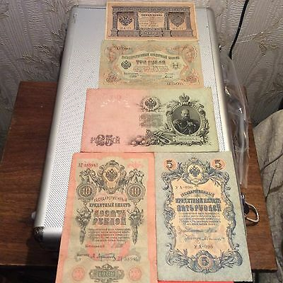 5 X Rare Old Russian Banknotes 1898 1919 1909 19