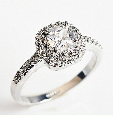 Valentine's Day 18K white gold  3.75 ct Square ring size 7.5