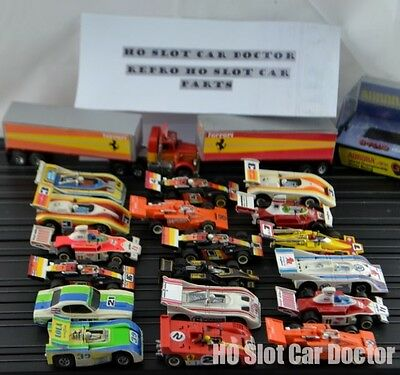Aurora AFX HO Slot Car Re Pro Stickers Lots to choose from Cars Vans Lorry's