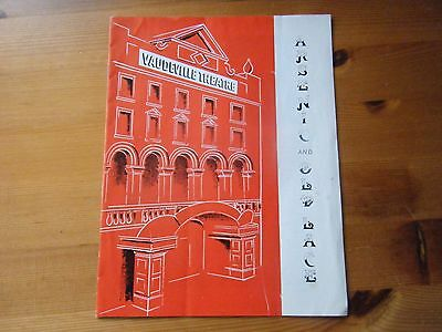 Programme Arsenic and Old Lace 1950s