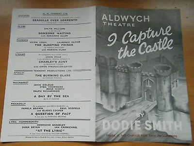 """Programme Aldwych Theatre"""" I capture the Castle"""" SIGNED.  1954"""