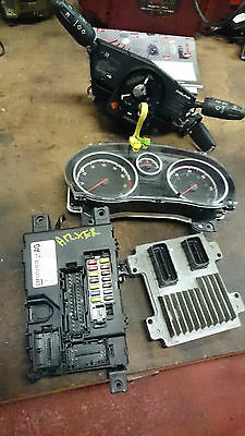VAUXHALL CORSA D Engine COMPLETE ECU SET/KIT 1.2 A12XER 2010 - 2014  #156
