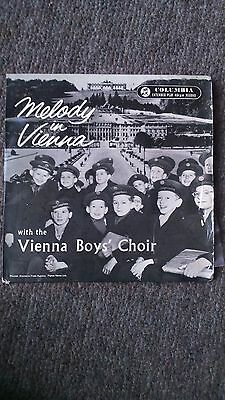 """Melody in Vienna with the Vienna Boy's Choir 7"""" vinyl in pic sleeve"""