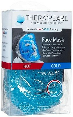 Thera Pearl ReusableHot & Cold Therapy Face Mask For Puffiness,Sinuses and More.
