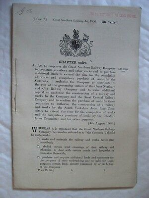 The Great Northern Railway Act, 1906. [6 Edw. 7.] Historic Railway Act.