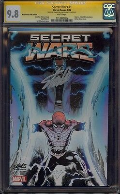 """Secret Wars 1 Mcguinness Fade Variant Cgc 9.8 Ss Stan """"the Man"""" Lee Cover Mint"""