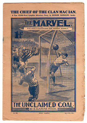 Old 1921 British weekly comic The Marvel April 1921