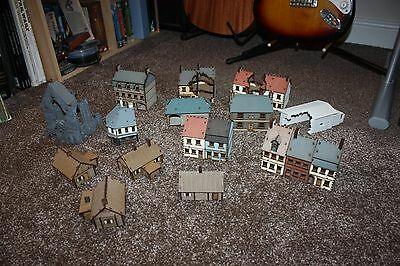 4ground 15mm prepainted MDF and airfix resin ww2 buildings flames of war