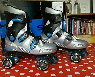 PHOENIX QUAD ROLLER SKATES, HEAVY DUTY, WELL PADDED, SIZE 6 UK, GOOD COND mens