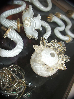 """Large Lot Of Vintage Murano """"gold Dust"""" Chandelier Parts As Shown"""