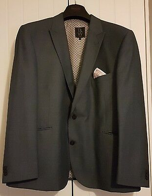 Taylor & Wright Men's Grey Full 3 Piece Suit Size Xxl
