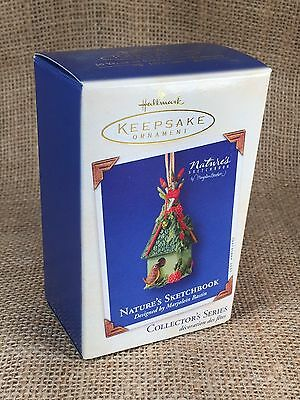 2003 Hallmark Keepsake Ornament Nature's Sketchbook Birdhouse 1st in Series NIB