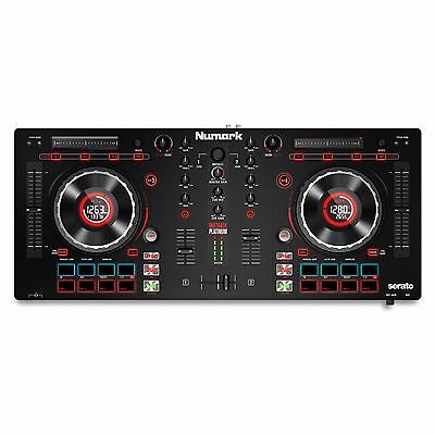 Numark Mixtrack Platinum 4 Deck DJ Controller with Serato and Software BSTK